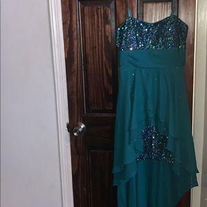 Hailey Logan by Adrianna sequin high-low dress